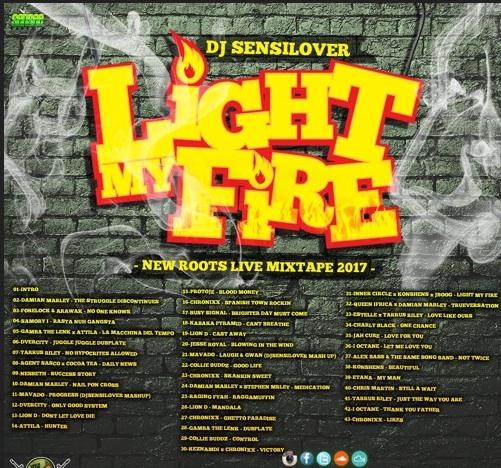 download dj sensilover Light my fire free reggae mixtape 2017