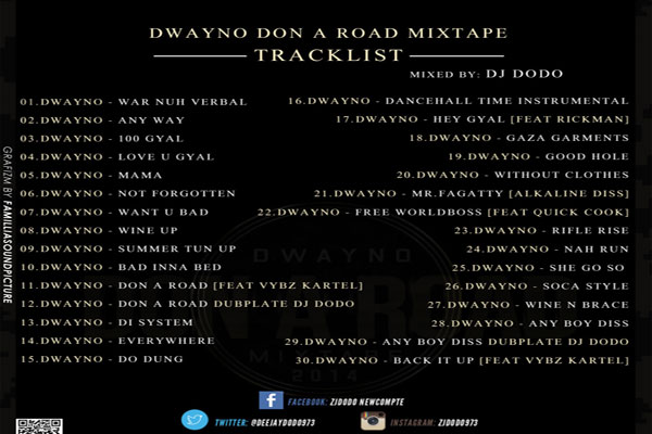 download dwayno don a road mixtape tracklisting