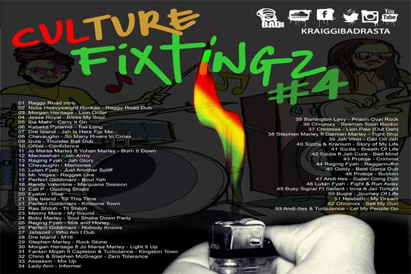 DOWNLOAD CULTURE FIXTINGZ REGGAE MIXTAPE 2016 – DJ KRAIGGIBADRASTA