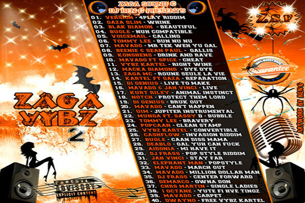 DOWNLOAD DJ BEN G ZAGGA VYBES VOLUME 2 – DANCEHALL MIXTAPE – NOV 2013