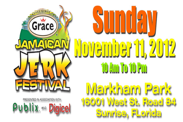 11th Annual Grace Jamaican Jerk Festival – Nov 11 South Florida