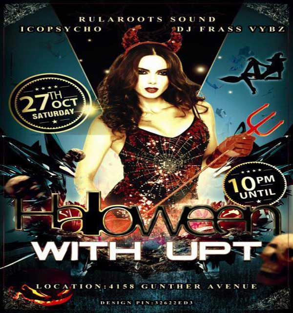 halloween Dancehall Party upt DJ frass Vybz