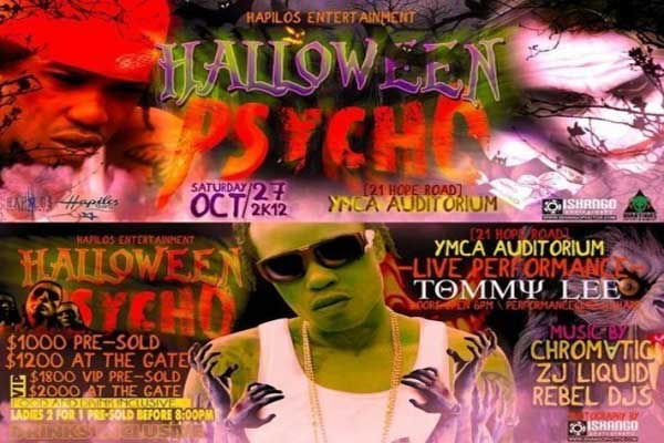 halloween psycho party Tommy lee sparta oct 27
