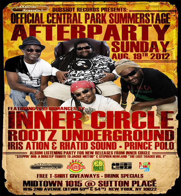 Inner Circle NYC Free Jamaica 50 Concert – Central Park Sunday Aug 19