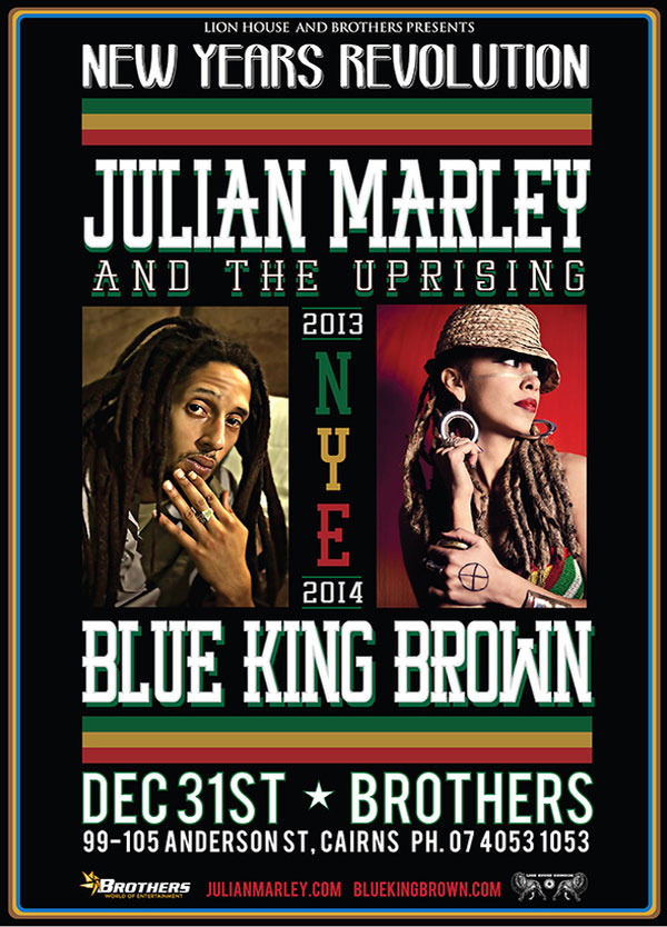 JULIAN MARLEY AND THE UPRISING  AUSTRALIA NEW ZELAND TOUR DATES 2013 – 2014