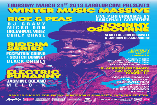LARGEUP PRESENTS WINTER MUSIC MASSIVE RICE & PEAS ELETRIC PUNANY RIDDIM SERIES