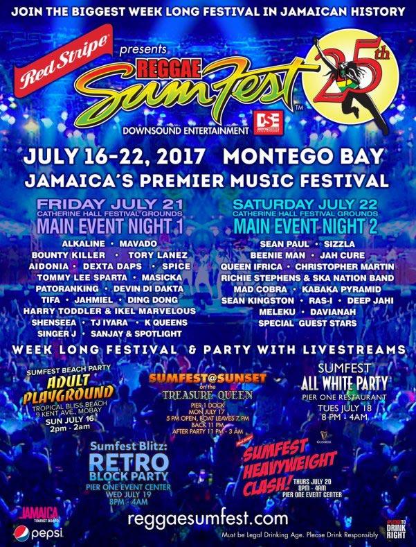 reggae sumfest july16-22 july 2017