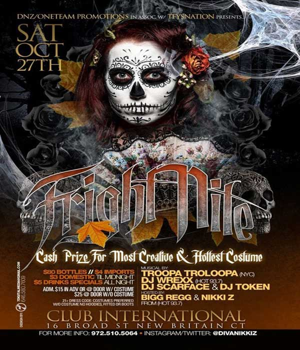 sat oct 27 nikki z halloween dancehall party CT