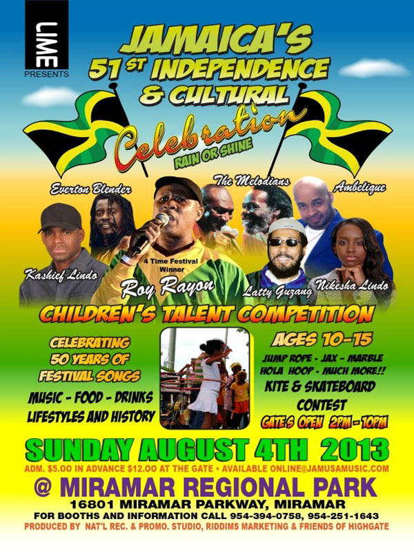 LIME – JAMAICA'S 51st INDEPENDENCE & CULTURAL CELEBRATION