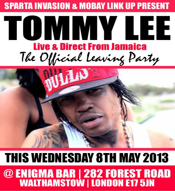 sparta invasion tommy lee enigma bar london may 8 2013