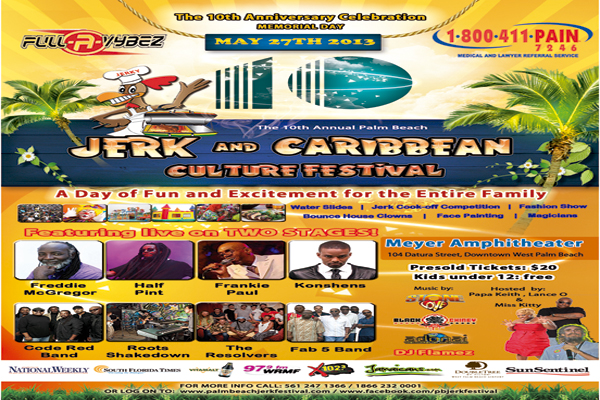 MEMORIAL DAY WEEKEND MAY 27 2013 PALM BEACH JERK FESTIVAL