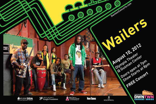 Miami August 10 The Wailers free concert