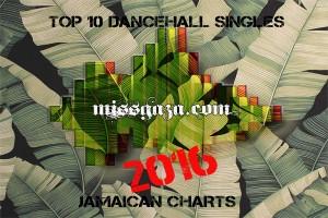 TOP 10 DANCEHALL SINGLES JAMAICAN CHARTS – JANUARY 2016