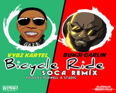 <strong>Listen to Vybz Kartel Feat Bunji Garlin &#8211; Bicycle Ride Soca Remix &#8211; Dunwell Productions</strong>