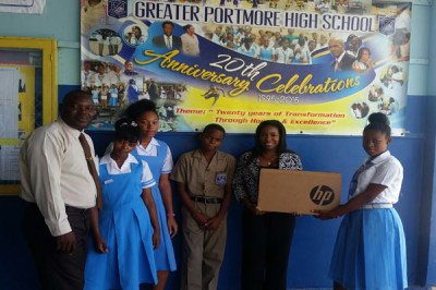 <strong>KARTEL'S MERCHANDISING COMPANY DONATES FIRST OF MANY COMPUTERS TO SCHOOLS</strong>